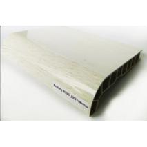 Підвіконня ПВХ  Sauberg  100х1000 ламінація глянець білий дуб