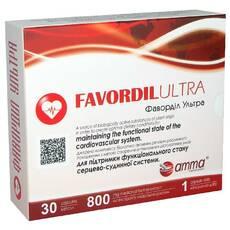 Фавордил ультра Favordil ultra 30 капсул по 800 мг