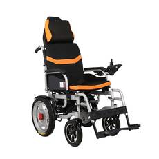 Складная электрическая коляска для инвалидов с подголовником MIRID D6036C. Литиевая батарея – 20Ач.