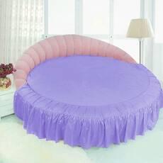 Цельная простынь-подзор на круглую кровать Модель 1 Сирень