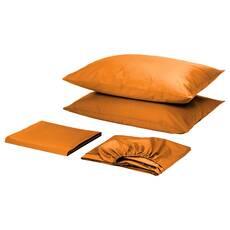 Комплект для круглой кровати с простынью на резинке Оранжевый