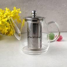 Заварник для чая стеклянный Kamille со съемным ситечком 600 мл