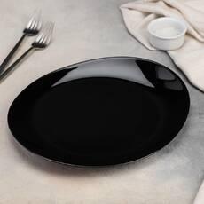 Чёрное блюдо для стейка Luminarc Friend Time black 300 мм (M0065)