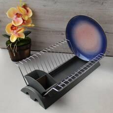 Одноярусная сушилка для посуды Kamille 41,5*26*11,5 см с поддоном