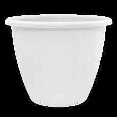 Маленький білий квітковий горщик 2л 18*14 см, квітковий вазон
