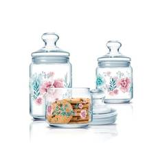 Набор банок с розовыми цветами 3 предмета Luminarc Club Sabline (P2334)