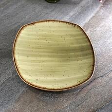"Квадратна тарілка зелена з фарфору Kutahya Porselen ""Corendon"" 210 мм (GR3221)"