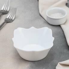 Білий фігурний салатник Authentic White 16 см (J1302)