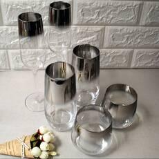 Великий набір склянок і келихів з гальванічним ефектом, кольорові келихи