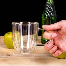Набор чашек для чая с двойными стенками 310 мл 2 шт Ardesto (AR2631GH), чашки с двойным дном