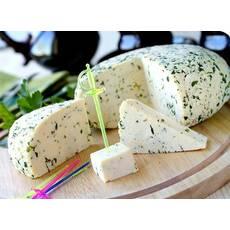 Натуральний козячий сир Адигейський із зеленню (молодий)