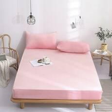 Простынь на резинке Фланель Яркая розовая