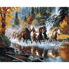Картина по номерам в коробке Babylon Дикие лошади 50х65см (VPS 130)