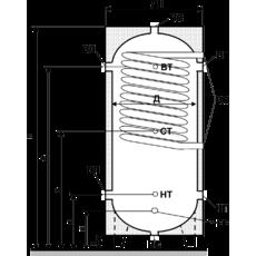 Бак аккумулятор горячей воды ЕАI-10-800