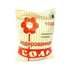 Харчова кам'яна йодована сіль фас. в п/е пакети по 1кг (мішок 25 кг), Артемсіль