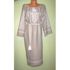 fd3024128181e3 плаття ручної роботи на сірому льоні з білою вишивкою - Товари ...