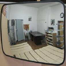 Сферическое  зеркало прямоугольное К 600*800