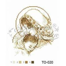 TO020ан2025   Марія з дитиною коричнева 20 см x 25 см