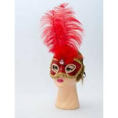 Карнавальна маска Перо страуса