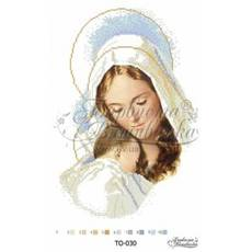 TO030ан3045 Бисерная заготовка  Мадонна с ребенком 30 см x 45 см