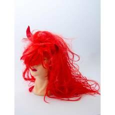 Парик Волосы огненные с рогами