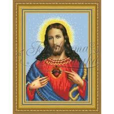 TO090ан1622 Икона Открытое Сердце Иисуса 16 см x 22 см