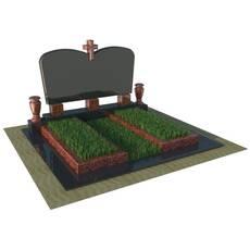 Надгробний пам'ятник на дві могили