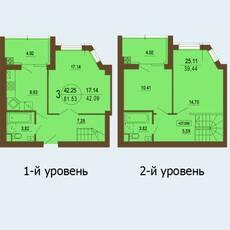 """Дворівневі квартири в ЖК """"Софія Клубний"""""""