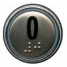 Кругла кнопка з накладкою з нержавіючої сталі