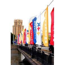 Уличные флаги