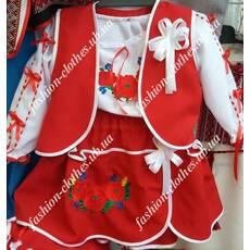 Вишитий костюм трійка для дівчинки - Товари - Купити стильні сукні ... aa33150422d20