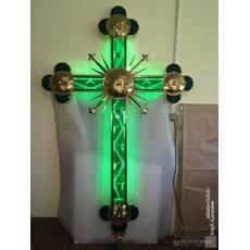 Крест накупольный с зеленой подсветкой, купить