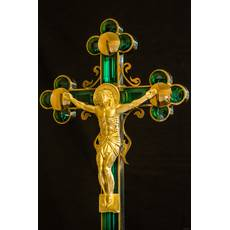 Хрест з розп'яттям, смарагдового кольору, купити