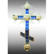 Крест накупольный синего цвета, купить в розницу