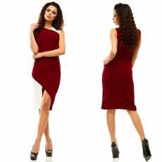 Платье бордовое, модель - 176