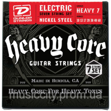 Jim Dunlop DHCN1060 HeavyCore комплект струн для 7-ми стор. електрогітари 10-60