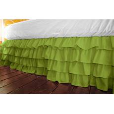 Підзор на ліжко Рюші Модель 5 Салатовий