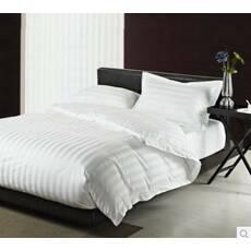 Постельное белье полоса 3 см  Белое Премиум