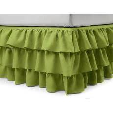 Подзор на кровать Рюши Модель 8 Салатовый