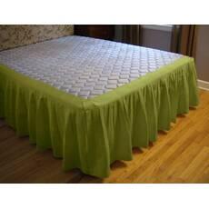 Подзор для кровати Складки Модель 4 Салатовый