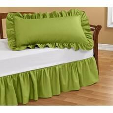 Подзор на кровать Рюши Модель 1 Салатовый