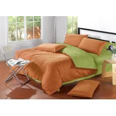 Комплект Двухстороннего постельного белья Медовый + Салатовый