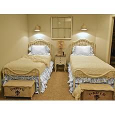 Підзор на ліжко Рюші Модель 5 Білий