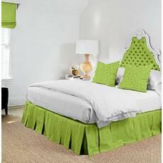 Подзор для кровати Складки Модель 2 Салатовый