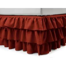 Підзор на ліжко Рюші Модель 8 Винний