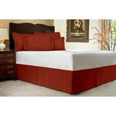 Юбка для кровати Винная Модель 1 строгий Мodern