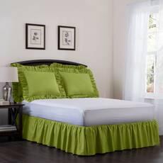 Підзор на ліжко Рюші Модель 7 Салатовий
