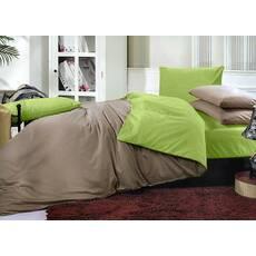 Двухсторонний комплект постельного белья Порох + Салатовый