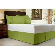 Спідниця для ліжка Салатова Модель 1 строгий Мodern