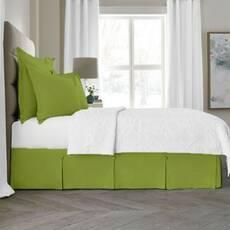 Спідниця для ліжка Салатова Модель 3 строгий Мodern